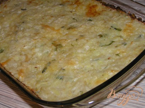 Картофельная запеканка с сыром и зеленью