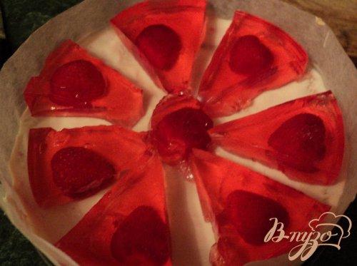 Торт «Красное и белое»