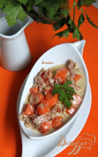 Морковка под соусом Карбонара