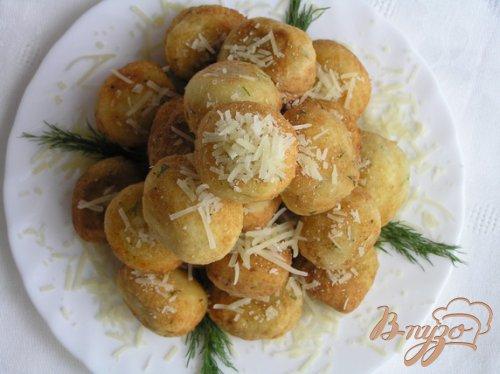 Творожные шарики с сыром и зеленью