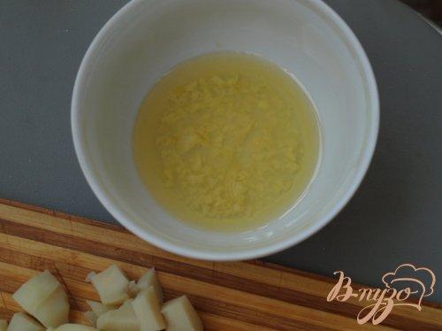 Салат с сёмгой и картофелем