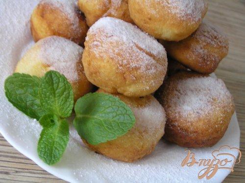 Творожные пончики с лимоном