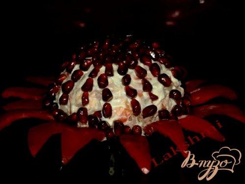 Вкусный салат «Аленький цветочек»