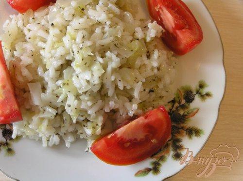 Капуста с рисом и базиликом