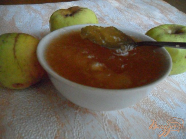 Фото приготовление рецепта: Яблочно-имбирный джем шаг №6