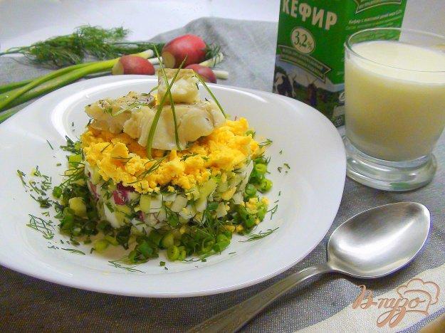 фото рецепта: Рыбная белая окрошка. Летний суп.
