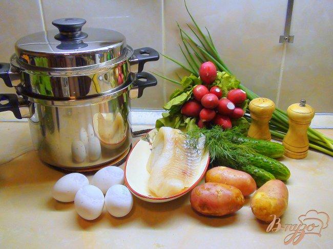Фото приготовление рецепта: Рыбная белая окрошка. Летний суп. шаг №1