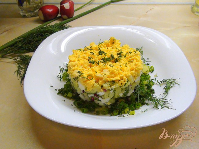 Фото приготовление рецепта: Рыбная белая окрошка. Летний суп. шаг №5