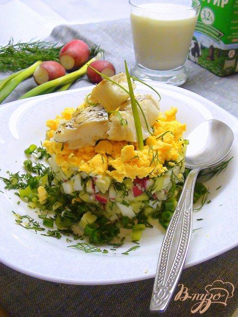 Фото приготовление рецепта: Рыбная белая окрошка. Летний суп. шаг №6