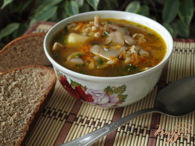 Рецепт Суп с вешенками и перловой крупой