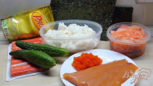 Фото приготовление рецепта: «Роллы» Калифорния (для тех, кто не умеет их «крутить»). Салат с рисом и рыбой. шаг №1