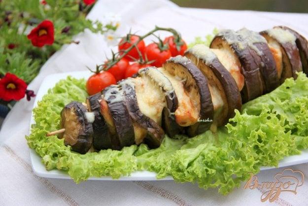 Рецепт Баклажаново-куриный шашлык