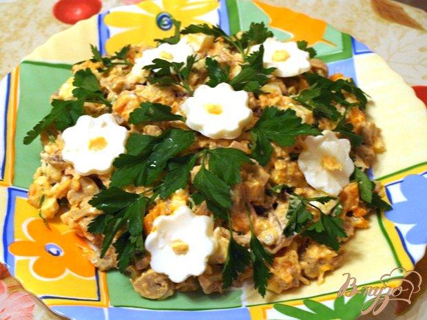 Фото приготовление рецепта: Салат с тыквой и курицей шаг №3
