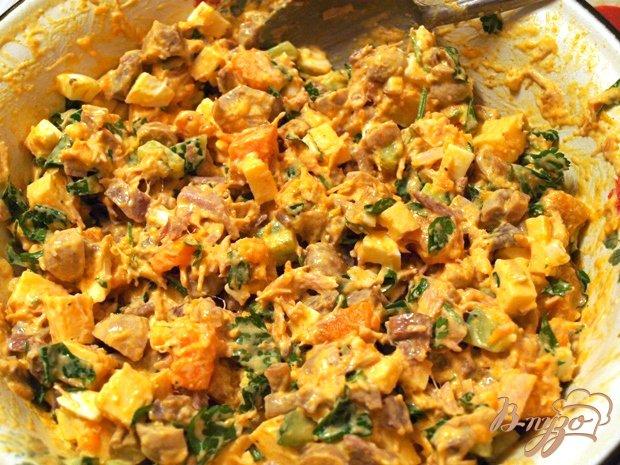 Фото приготовление рецепта: Салат с тыквой и курицей шаг №1