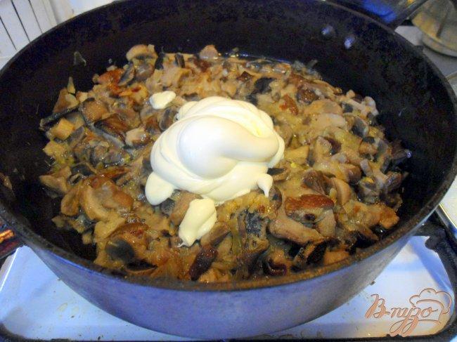 Рецепт Жульен с лесными грибами.