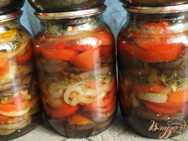 Рецепт Баклажаны с помидорами и болгарским перцем