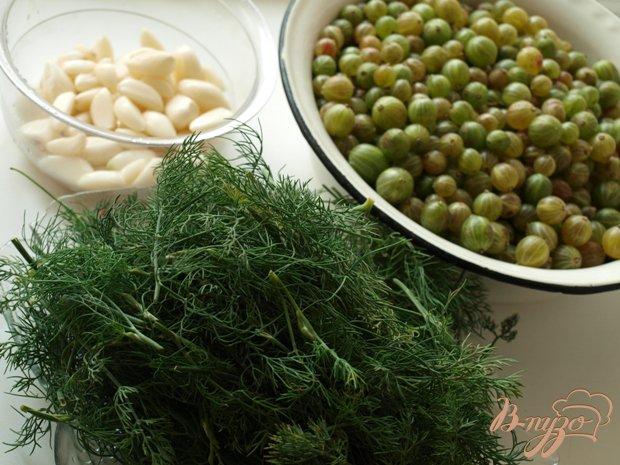 Фото приготовление рецепта: Пикантный соус к мясу из крыжовника шаг №2