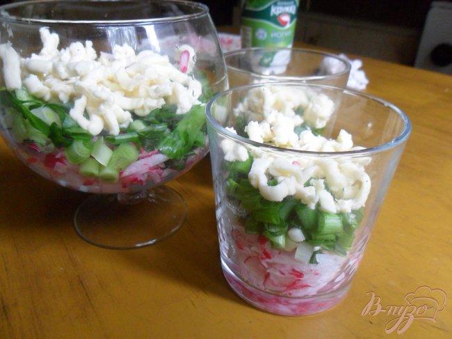 Фото приготовление рецепта: Салат из редиса