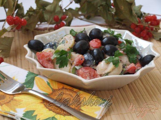 Рецепт Картофельный салат с помидорами и оливками