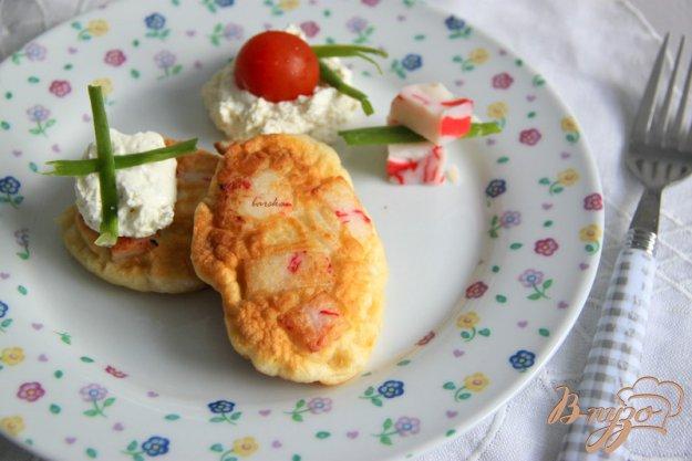 Рецепт Закусочные оладушки с крабовым мясом