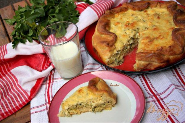 Рецепт Пирог с молодой капустой и зернистым творогом