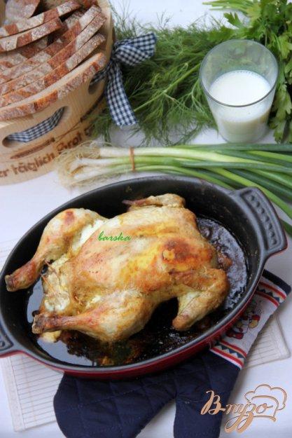 Рецепт Курица, фаршированная хлебом и сыром