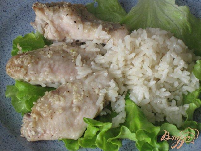 Фото приготовление рецепта: Курица запеченная с рисом. шаг №5