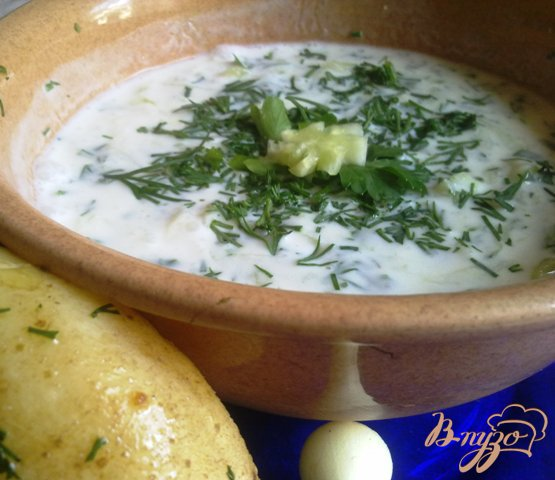 Рецепт Холодный суп из кефира