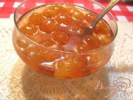 """Рецепт Варенье из черешни с лимоном """"Янтарь"""""""