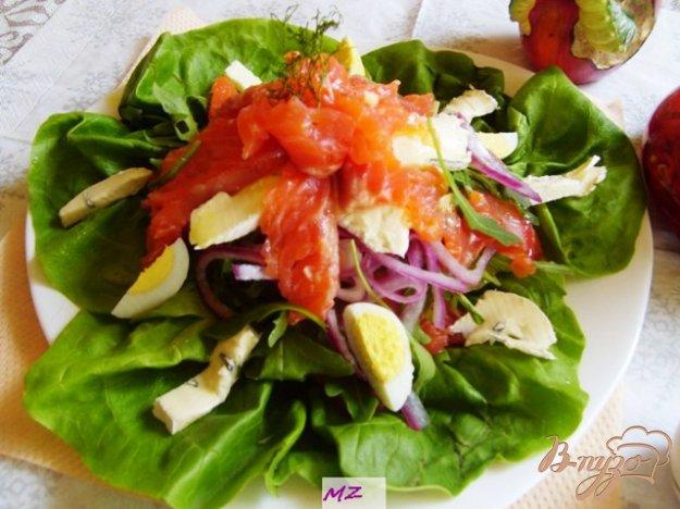 Рецепт Салат слоеный с лососем