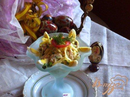 Рецепт Салат с копченной курочкой
