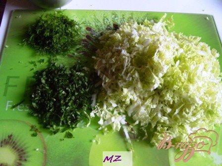 Салат с копченной курочкой