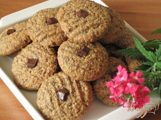 фото рецепта: Шоколадно-овсяное печенье