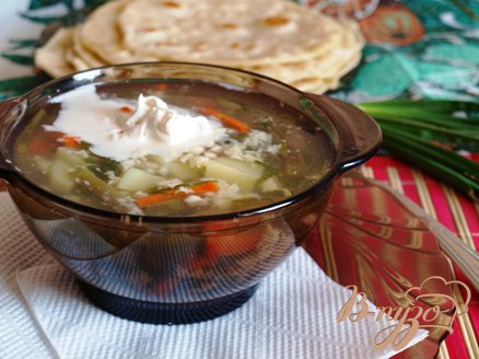 Рецепт Лёгкий суп с яйцом