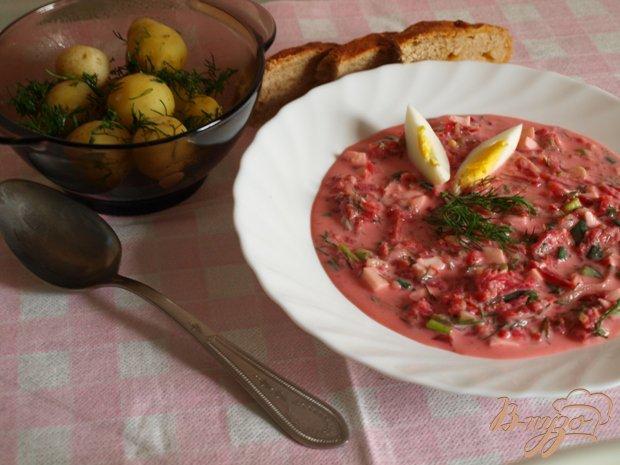фото рецепта: Холодный литовский борщ