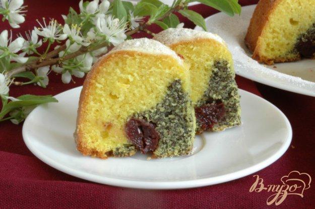Рецепт Нежный кекс с маком и вишнями