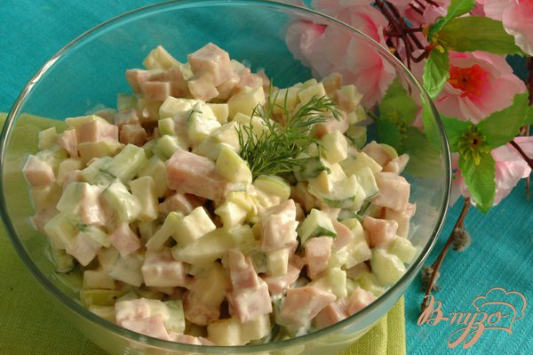 Фото приготовление рецепта: Легкий салат шаг №4