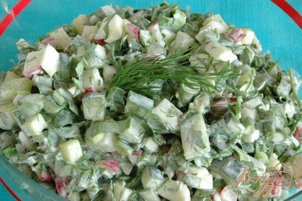 Фото приготовление рецепта: Салат с черемшой шаг №6