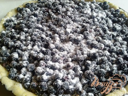 Черничный пирог c миндалем