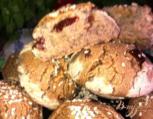 Фото приготовление рецепта: Булочки с вялеными помидорами на опаре шаг №7