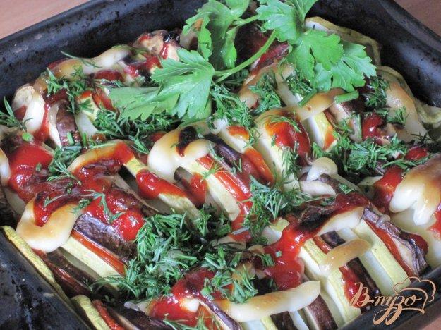 Рецепт Баклажаны запеченные с овощами