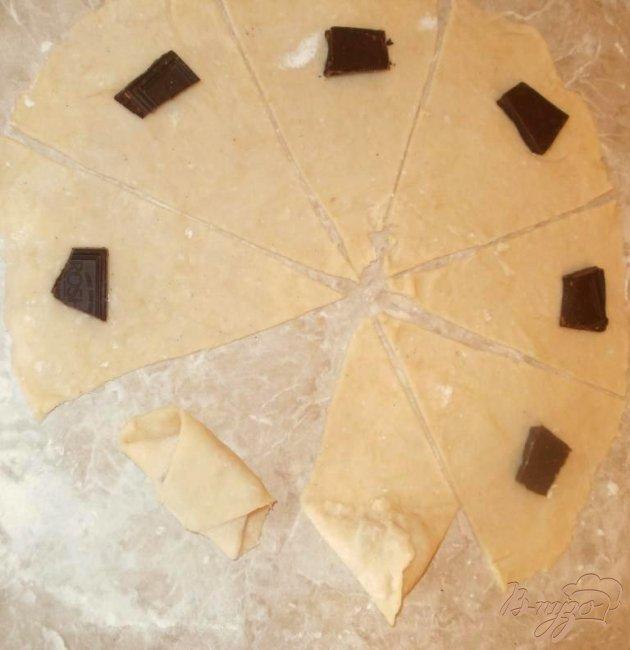 Фото приготовление рецепта: Рогалики из творожного теста шаг №3