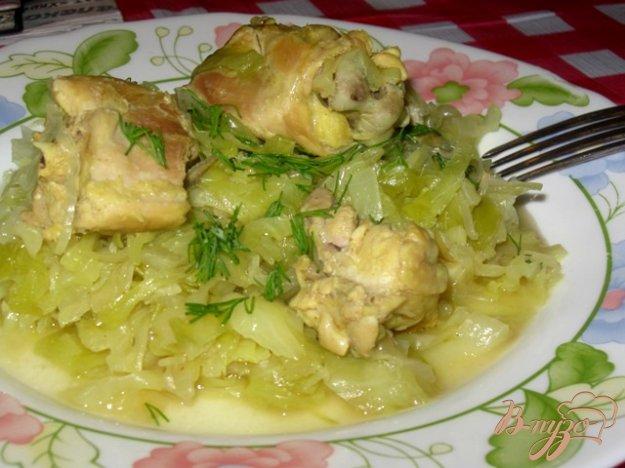 Рецепт Тушеная капуста с мясом без томата.