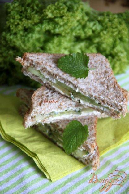 Рецепт Сэндвичи с пикантным огурцом