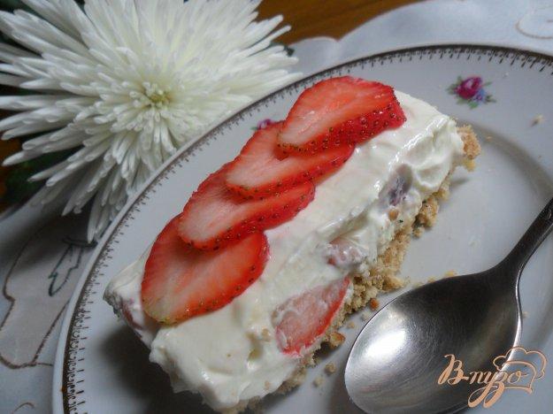 Рецепт Клубничный чизкейк с белым шоколадом