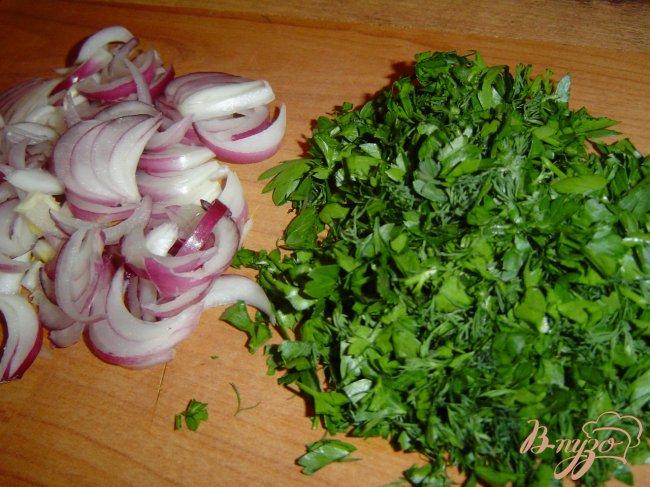 Фото приготовление рецепта: Салат шопский шаг №6