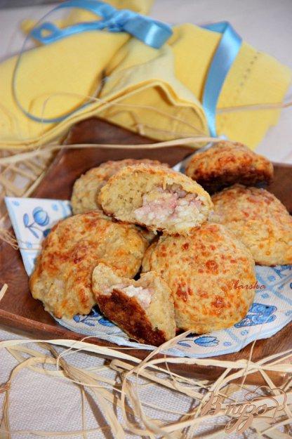 Рецепт Мини-булочки с пшеничными хлопьями и начинкой