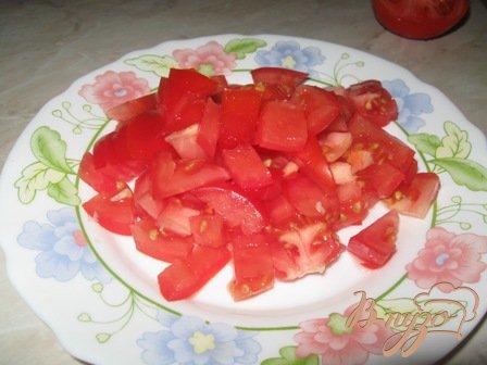 """Салат из ветчины, сыра и помидор """"Хит"""""""