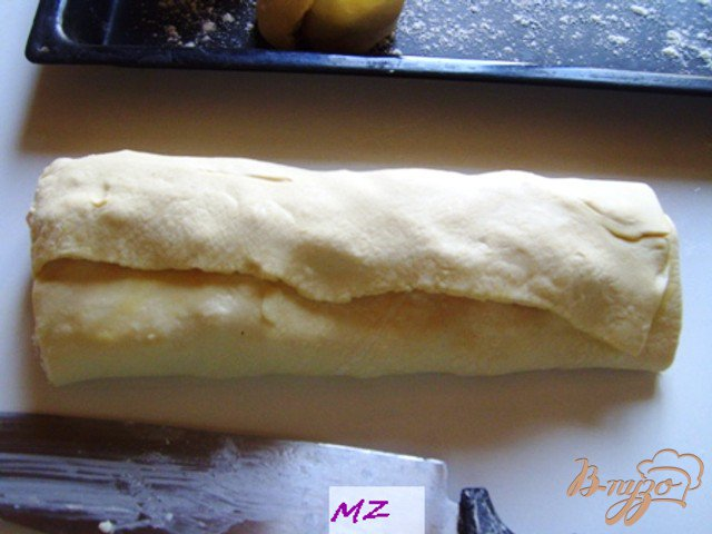 Фото приготовление рецепта: Завитушки с креветками шаг №5