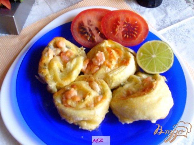 фото рецепта: Завитушки с креветками